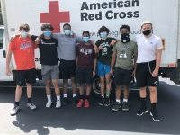 Lower Merion Football Players Heed the Red Cross S.O.S